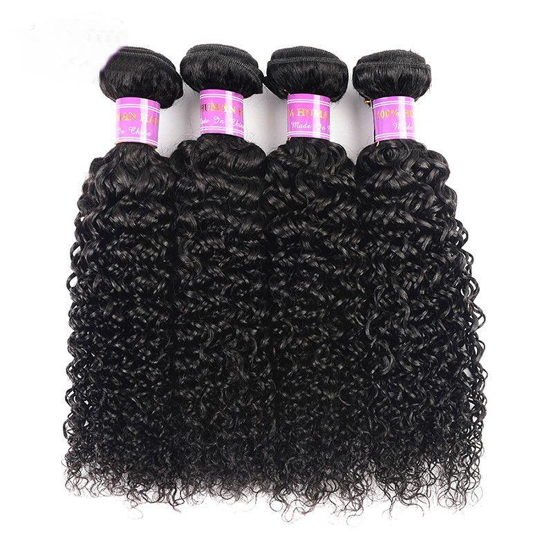 8A Brezilyalı Virgin İnsan Saç Paketler Kinky Kıvırcık Gevşek Dalga Derin Dalga Brezilyalı Virgin Saç