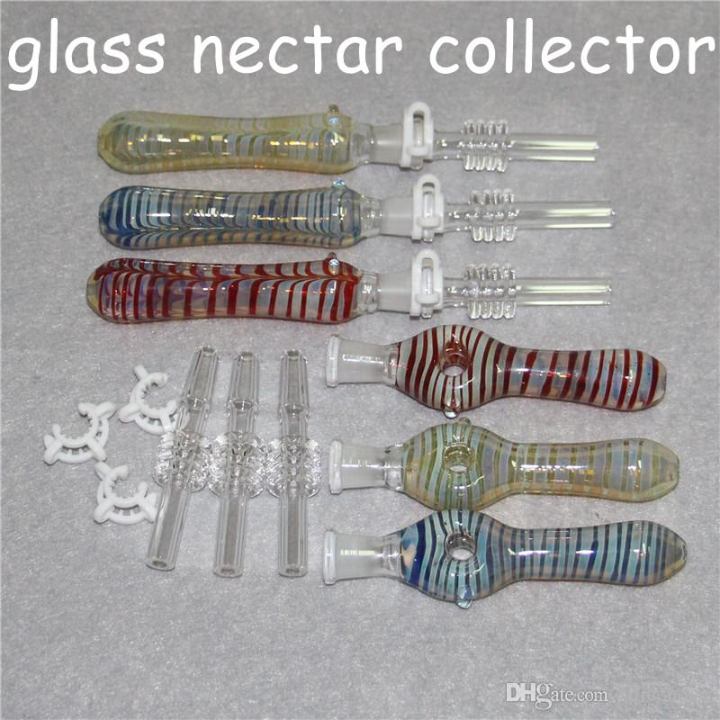 Concentrate Honey Dab Straw Pipes Nectar collectors kit with Quartz Tip Nectar Collector 10mm Glass Reclaim Catcher ash catcaher handmake