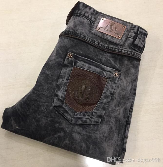 Angelo gal * asso Jeans Herren 2019 neue Mode lässig bequeme britische Eisen Trend Hose