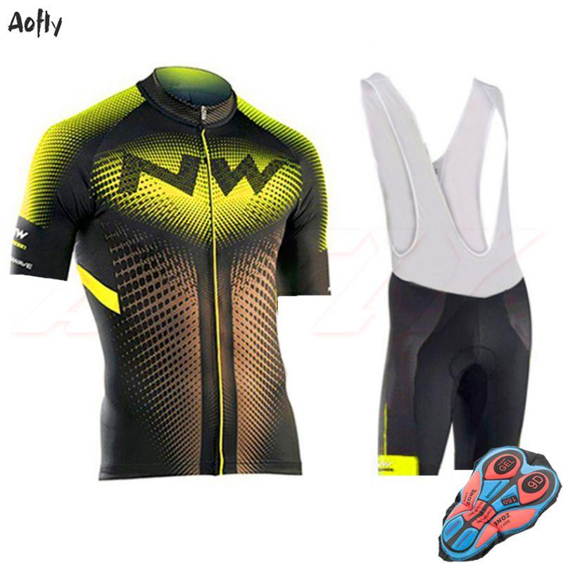 conjuntos fluorescentes amarillas NW ciclismo Jersey de ciclismo MTB 2020 roupa ropa de la bici va favorable camiseta de secado rápido de la bicicleta