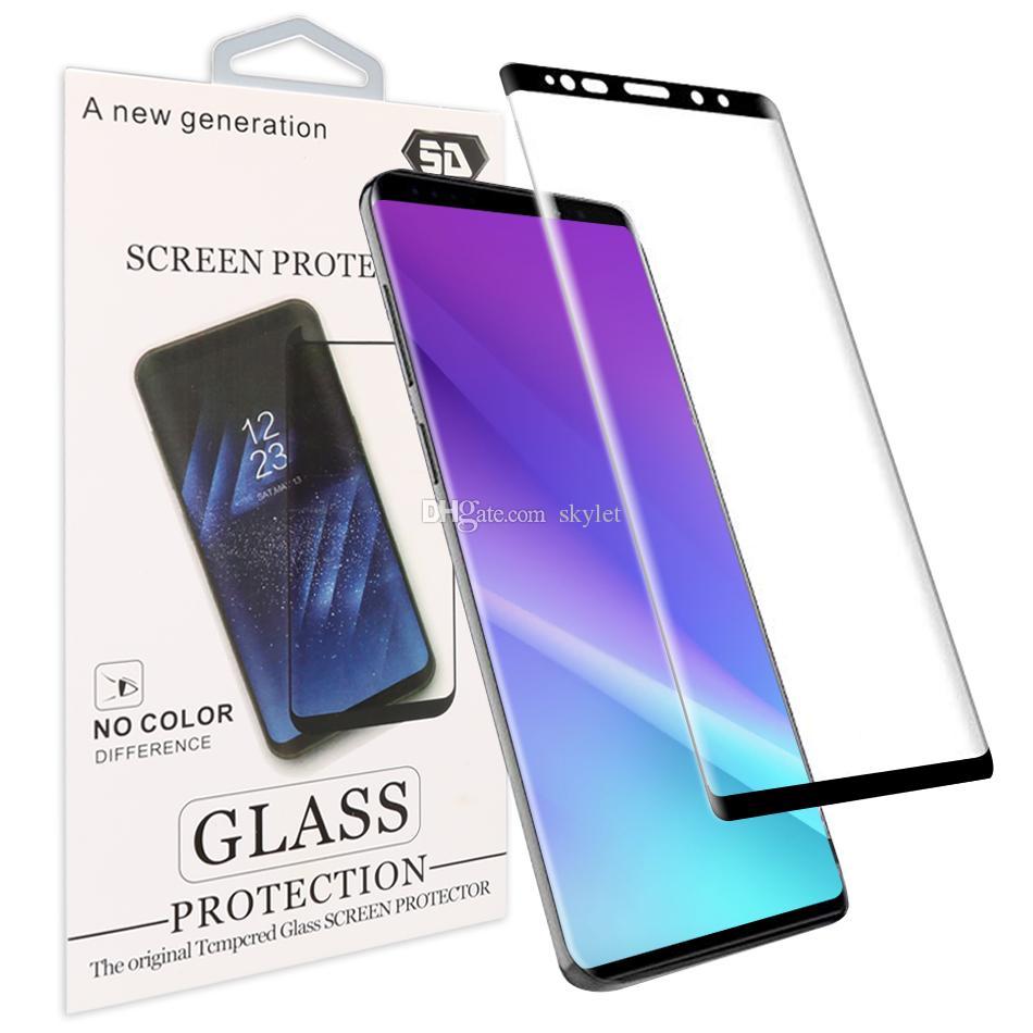 3D منحني حافة الزجاج المقسى للحصول على 11 برو ماكس سامسونج S20 S20 زائد حالة الشاشة دية حامي للحصول على S8 ملاحظة 8 S7 EDGE S6 EDGE زائد