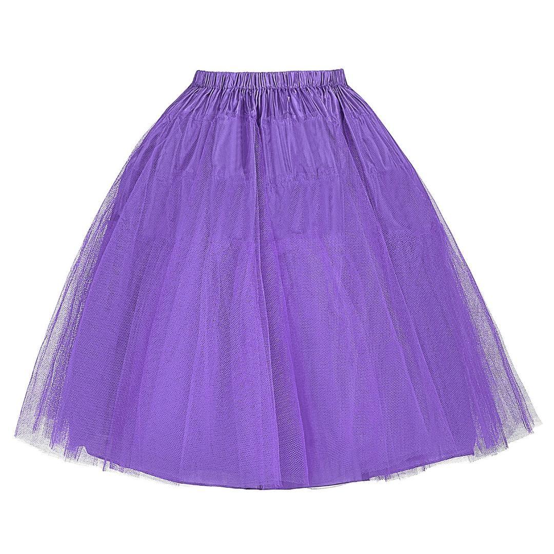 f7f80eb01 Compre Stock Negro Faldas Amarillas Mujeres Kawaii Underskirt 50 S Swing  Vintage Retro Enagua Net Tul Falda Tutu Corto Falda Niña A $13.81 Del ...
