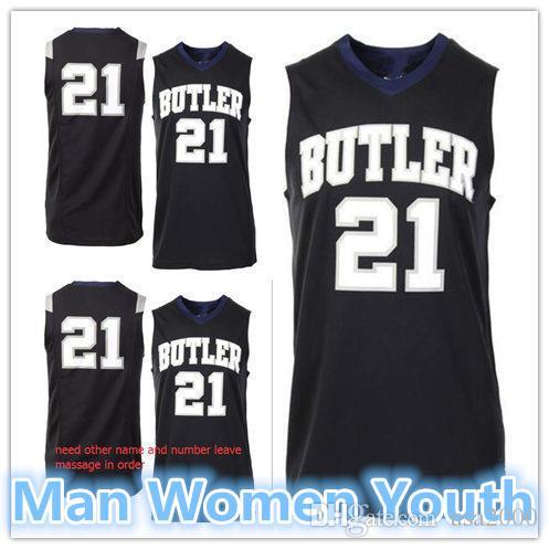 modifique para requisitos particulares NCAA # 21 de Butler Bulldogs camisetas de baloncesto hombre mujeres jóvenes Jersey de la universidad cualquier tamaño número nombre de S-5XL