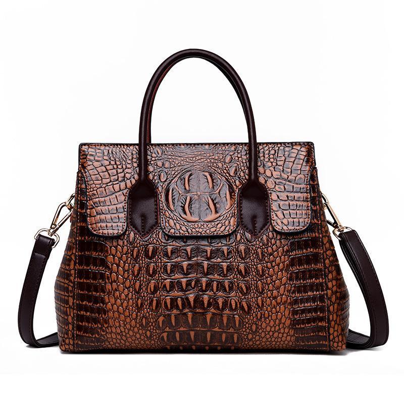 2019 Новый год сбора винограда из натуральной кожи сумка женщин Аллигатор Роскошные сумки Женские сумки дизайнерские сумки Crossbody для женщин Tote сумки T200605