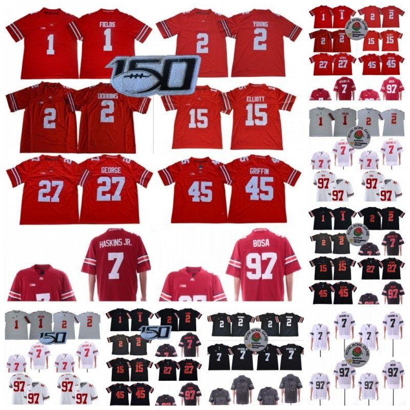 150 TH Ohio State Buckeyes 1 Justin Champs 2 Chase Jeune 7 Dwayne Haskins JR 45 Archie Griffin 97 Nick Bosa 15 Elliott NCAA Football Jerseys