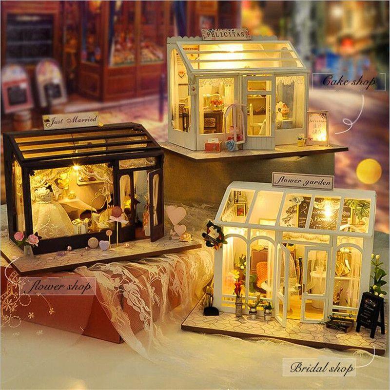 Кукольные домики DIY деревянный Кукольный дом ручной подарок унисекс кукольный домик детская игрушка мебель миниатюрные ремесла