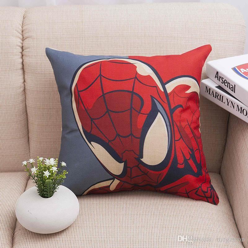 "Hot Decor Sofa SPIDERMAN PILLOW CASE HEROES CARTOON cushion Linen//Cotton 18x18/"""