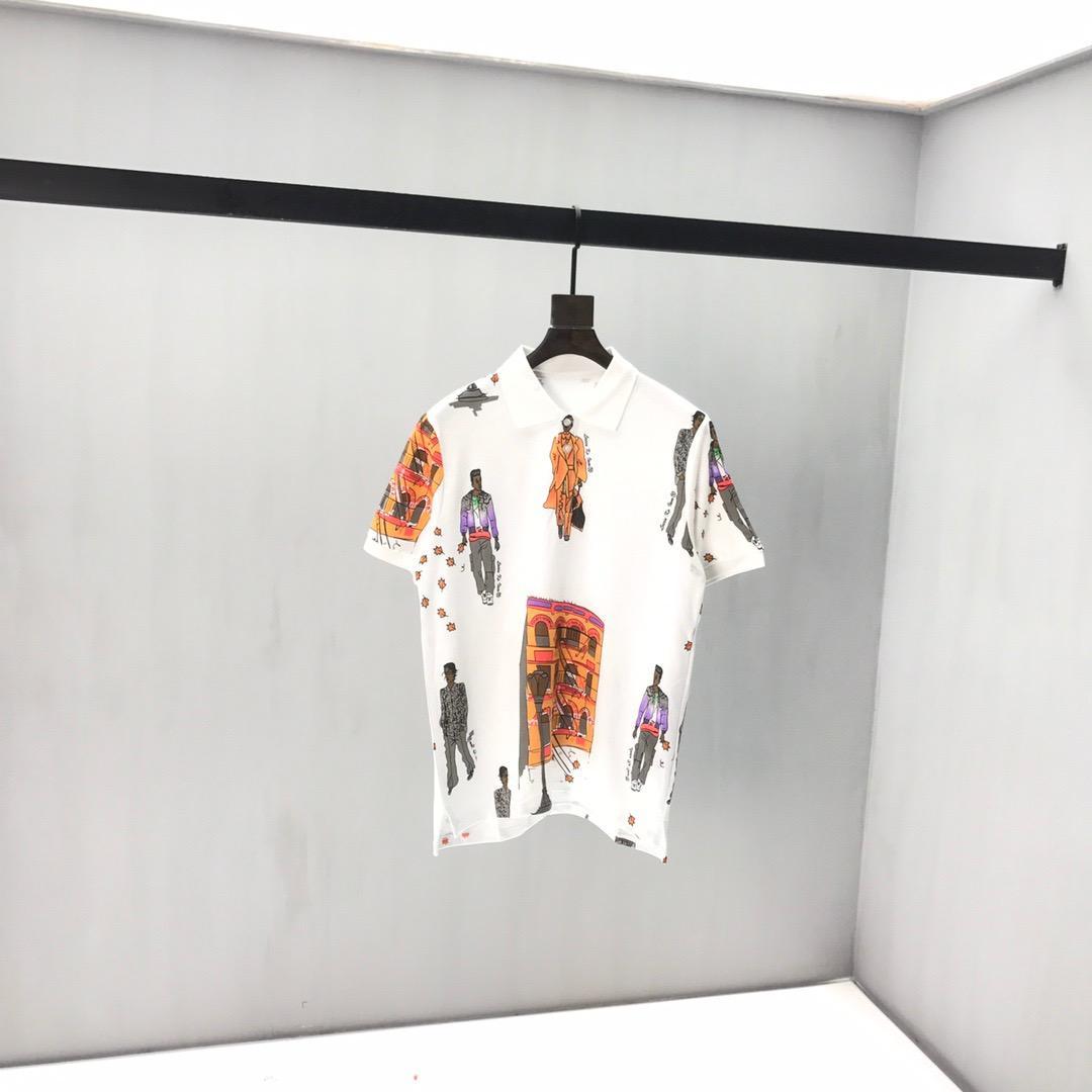 20 Moda Top Coppia Shirt Designer Estate T-shirt Luxury Brand impiombato manica corta dislocazione maglietta di modo superiore di svago T-shirt -6395