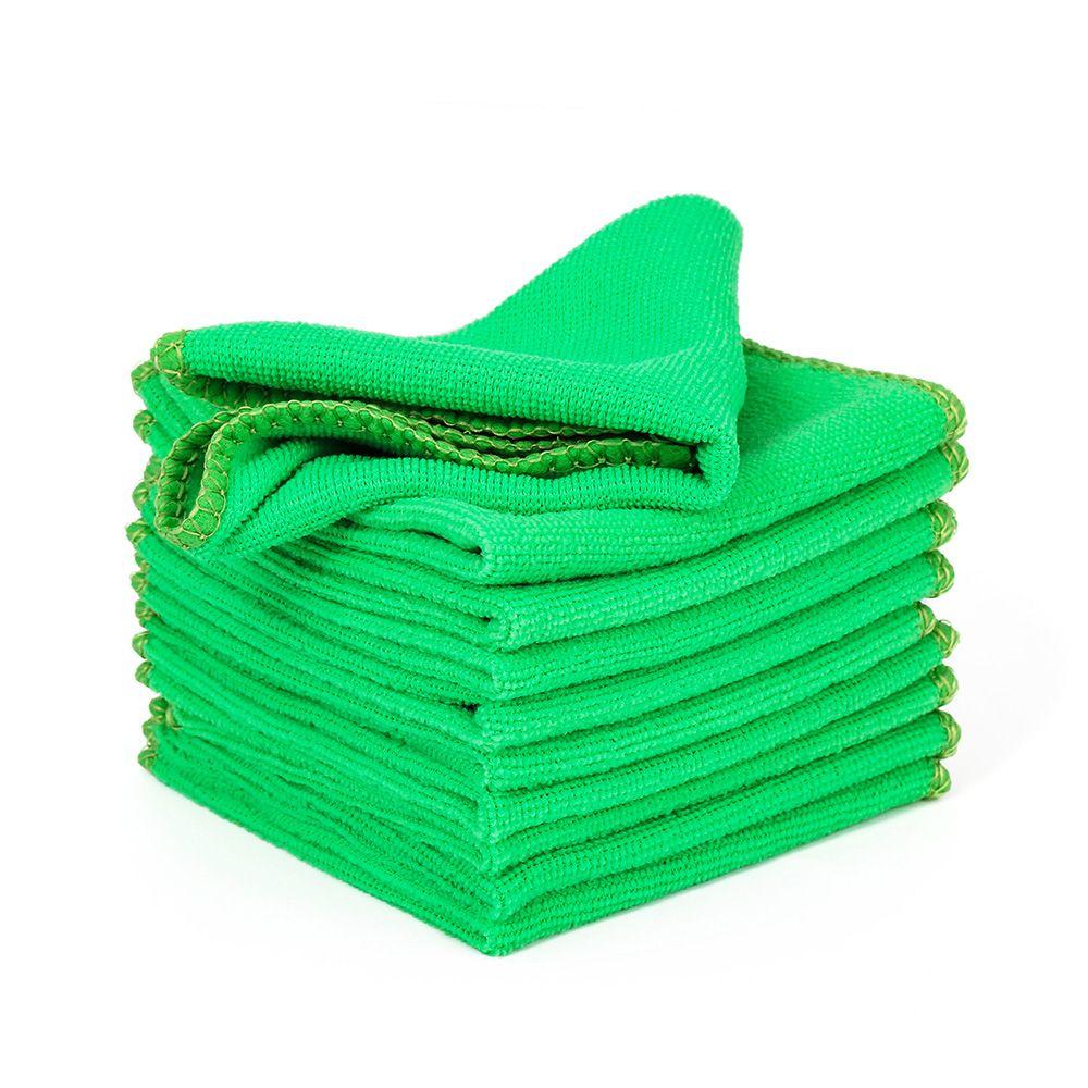 10pc Microfibra Lavado de coches Toalla Limpieza suave Cuidado del automóvil Detallado Paños Lavado Toalla Plumero 9.84 '' x 9.84 '' Pulgadas Toalla de microfibra Coche