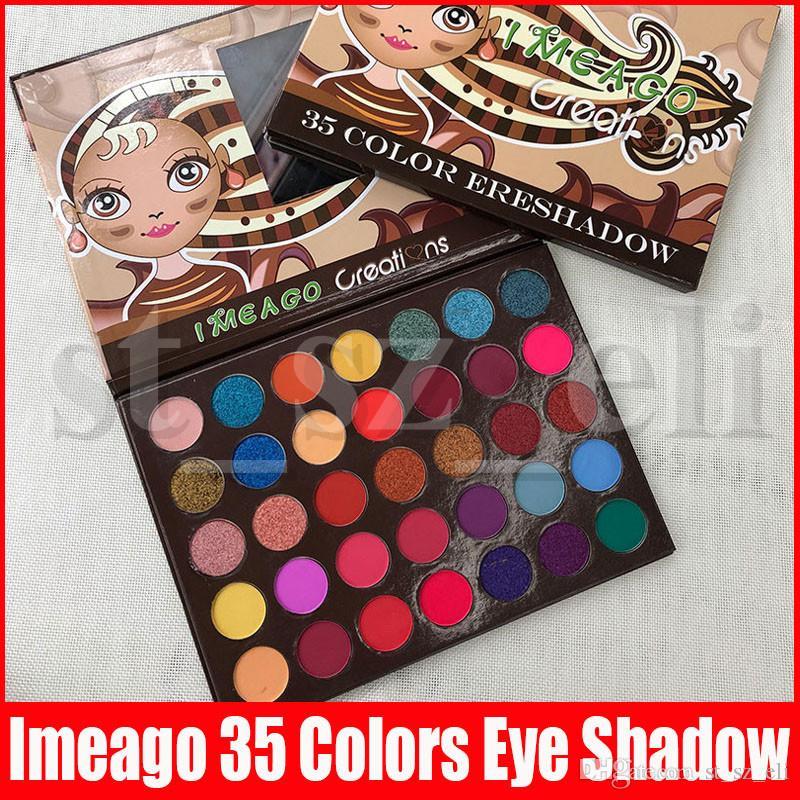 IMEAGO Creations Eye Makeup Matte Eyeshadow Palette 35 colors Preseed Pigment Smoky Eye Shadow Palette