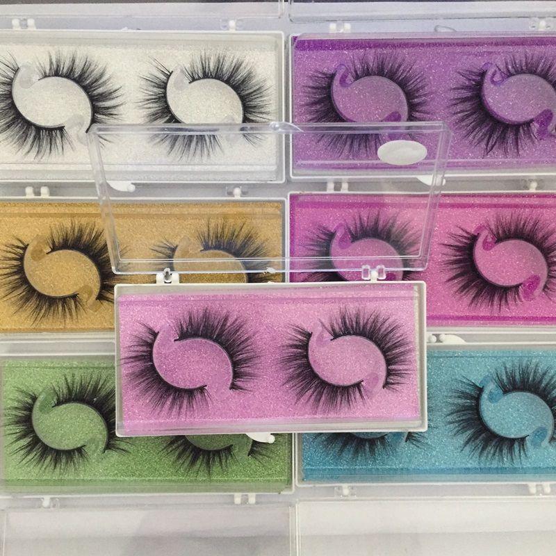 NEW Latest 2 Pairs Natural False Eyelashes Fake Lashes Long Makeup Eyelash Extension Mink Eyelashes For Beauty