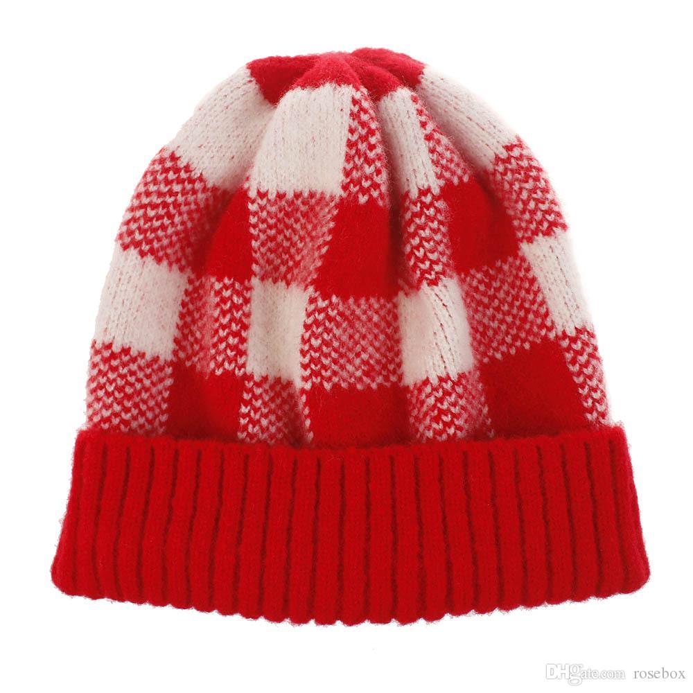 Yetişkin Kontrol Örme Şapka 10 Renkler Kadınlar Kalınlaşma Sıcak Şapka Kış Açık Wollen 3 Parça ePacket Caps