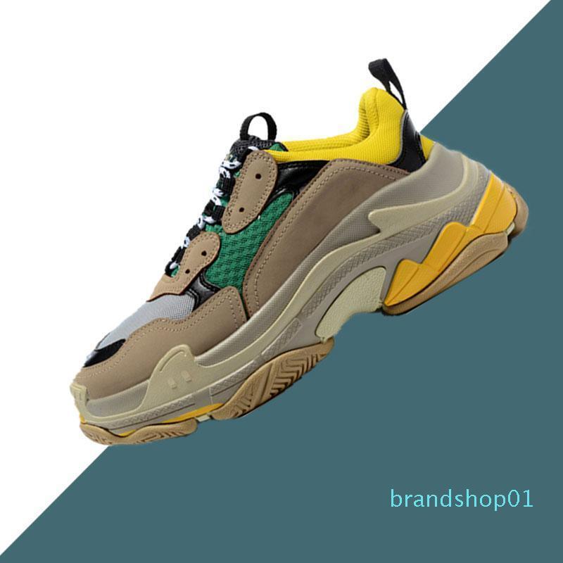 Erkekler Kadınlar Siyah pembe beyaz spor Yükseklik Artırma lll için Üçlü S Tasarımcı Ayakkabı Moda Paris 17FW Sneaker Casual Baba Ayakkabı