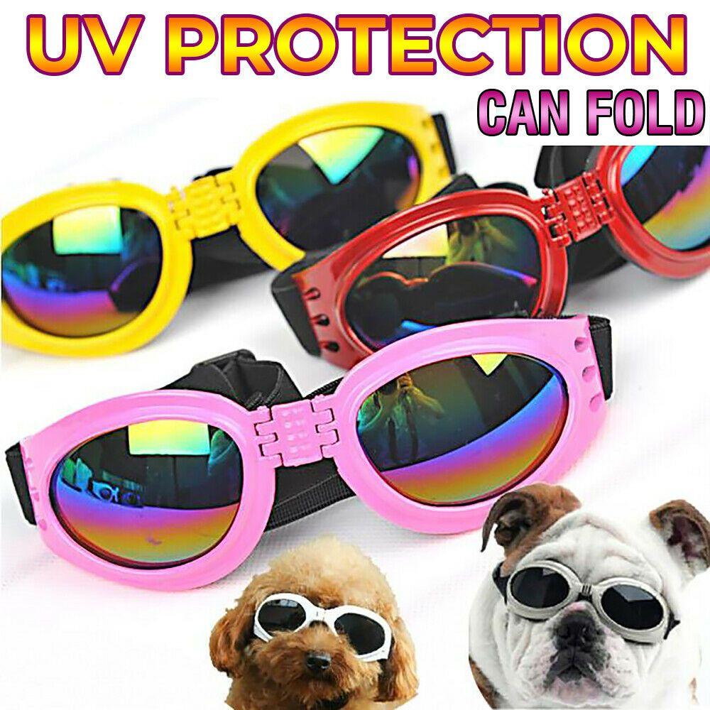 New Dog Glasses Fashion Foldable Sunglasses Medium Large Dog Glasses Big Pet Waterproof Eyewear Protection Goggles UV Sunglasses