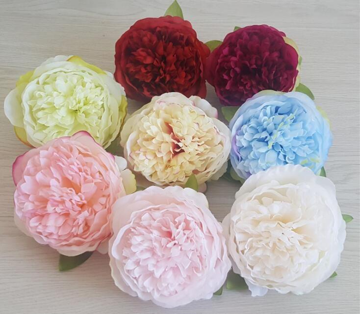 8colors Fleurs soie artificielle Pivoine capitules de soirée de mariage articles de décoration Simulation Fausse Corolle Décoration Y01