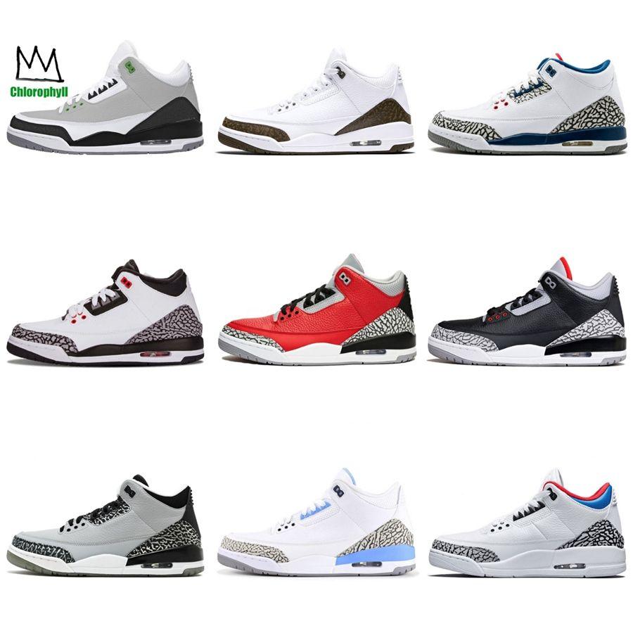 Zapatos de cuero limitada actualización de baloncesto retro 3 3S Rojo Gris para hombre de alta calidad diseñador zapatos atléticos de Deportes # 406