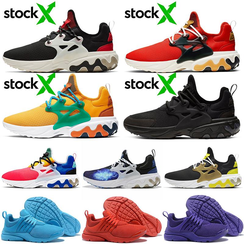 2020 Wholesale Cheap React Presto Running Shoes Mens Womens Phantom Red Strawberry Shake Breakfast Triple Black Light Blue Purple Sneakers
