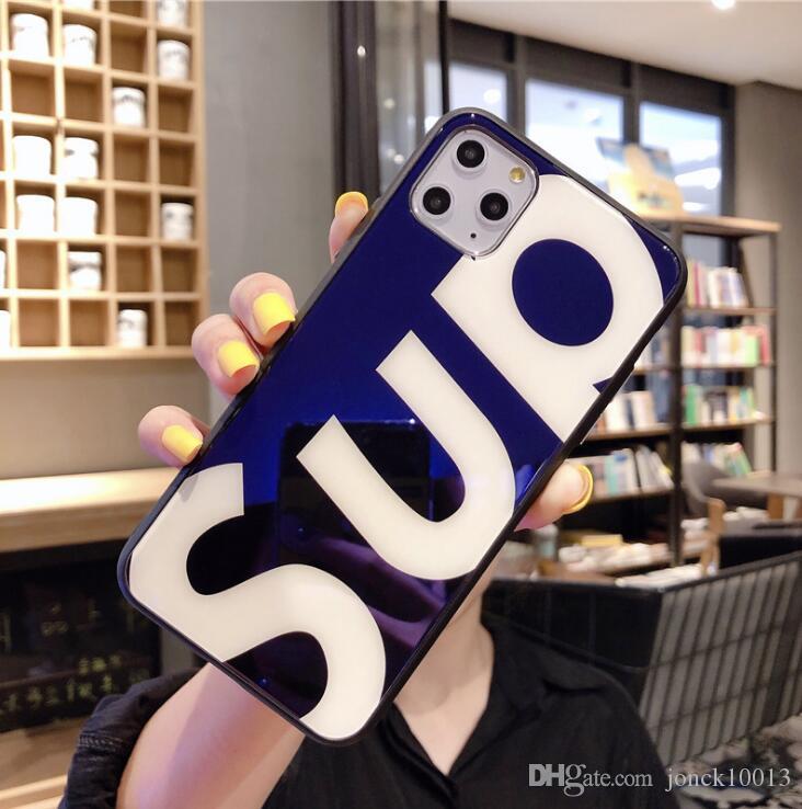 Tide brand blue light glass Apple 11pro max mobile phone case iPhone7 / 8plus all-inclusive edge drop smart watch