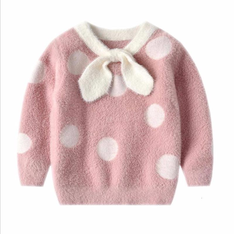 Kids Toddler Girls Knitted Sweater Loose Warm Pullover Knit Tops Outfits for Spring Fall Winter