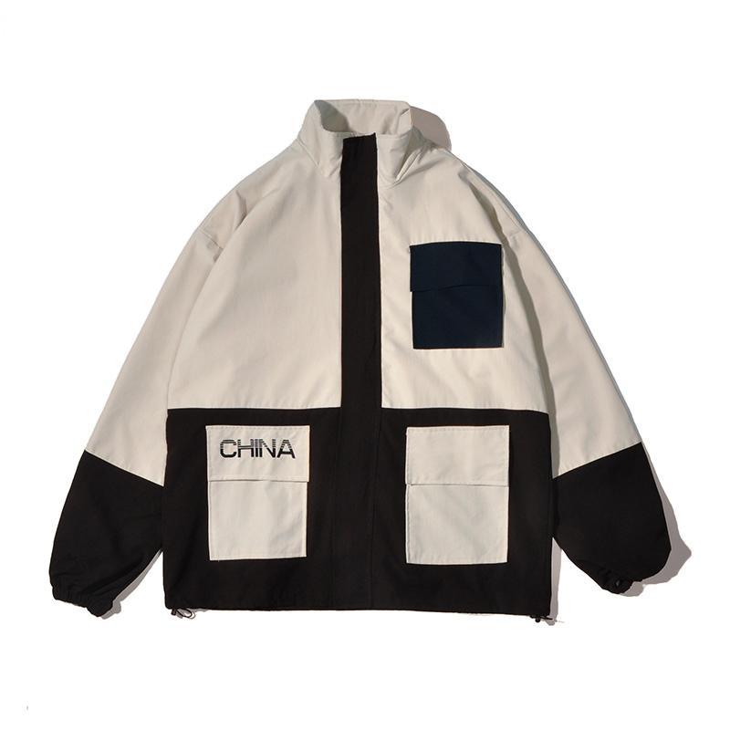 Tide brand print color casual jacket men's spring autumn trend loose top Hong Kong wind ins Korean version of the work jacket