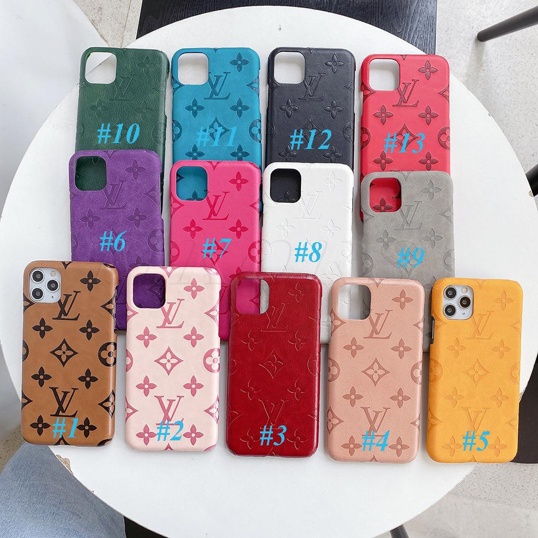 Trendy Designer Couro Telefone para iPhone 11 11Pro X XS MAX XR 8 7 6 Plus Shell Celular Case for Samsung S20 S10 S9 S8 Nota 10 9 8