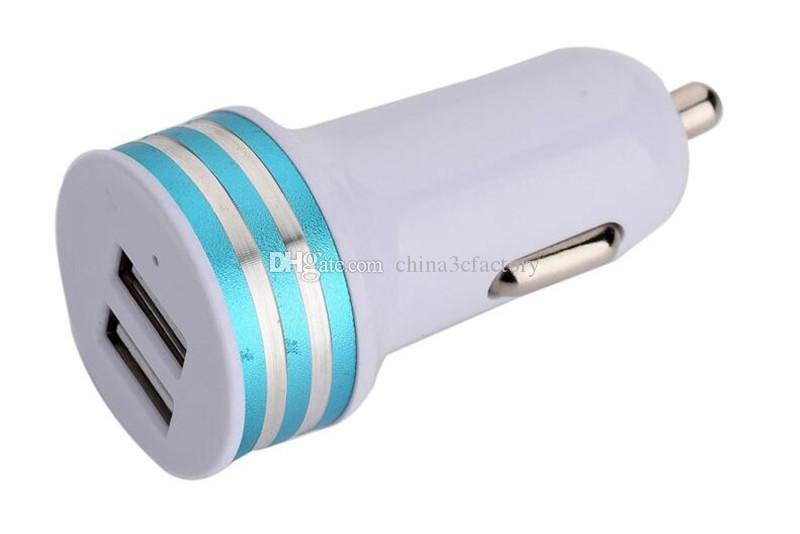 car charger 2.1A LED USB Dual 2 Port Adapter Socket Car Charger For Iphone For Samsung Top