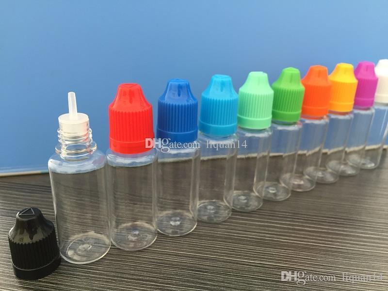 긴 얇은 팁으로 분명 인감 및 아동 증명 빈 병 5ml를 10ml의의 15 ㎖ 20 ㎖의 30ML의 50ML E 액체 플라스틱 스포이드 병을 탬퍼