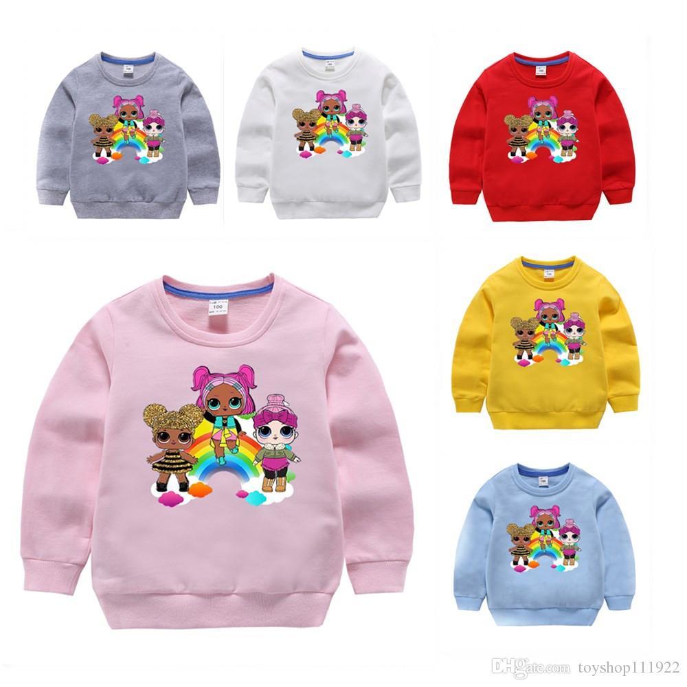 2020 Karikatur-Puppe-Mädchen-Jungen Hoodies Herbst Frühling Kinder Langarm-Sweatshirts Kinder Outwear Pullover Top Kleidung DHL frei