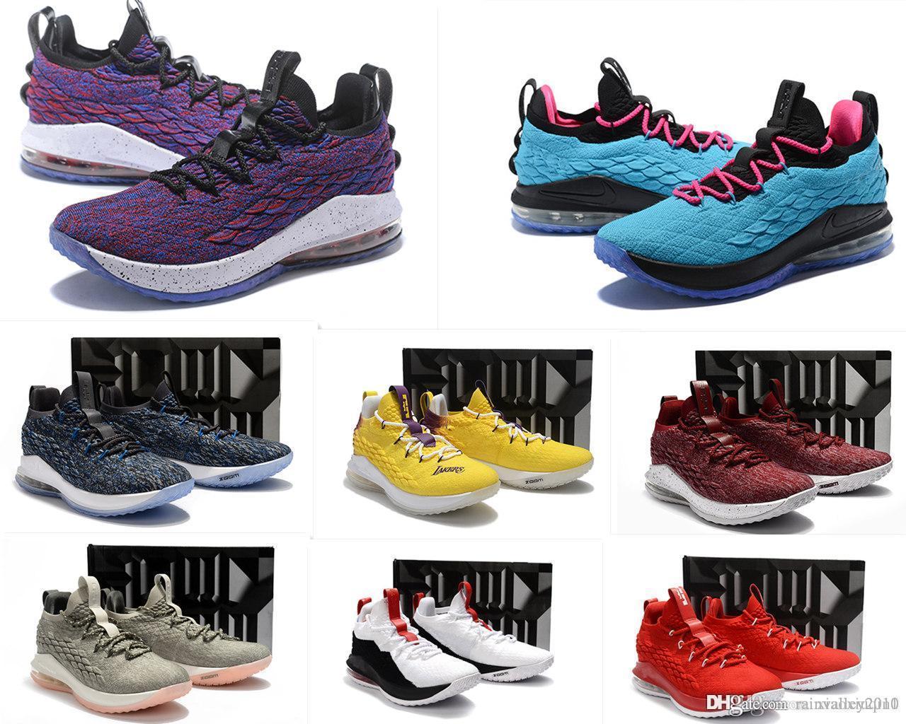 что леброн 15 XV низкие мужские баскетбольные кроссовки для продажи MVP Рождество BHM Oreo молодежные детские поколения кроссовки сапоги с коробкой
