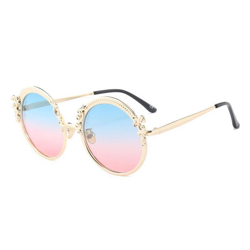 Lunettes de soleil rondes vintage Accessoires Femme Lunettes de soleil de luxe pour lunettes de club Oculos Shades 18430DF