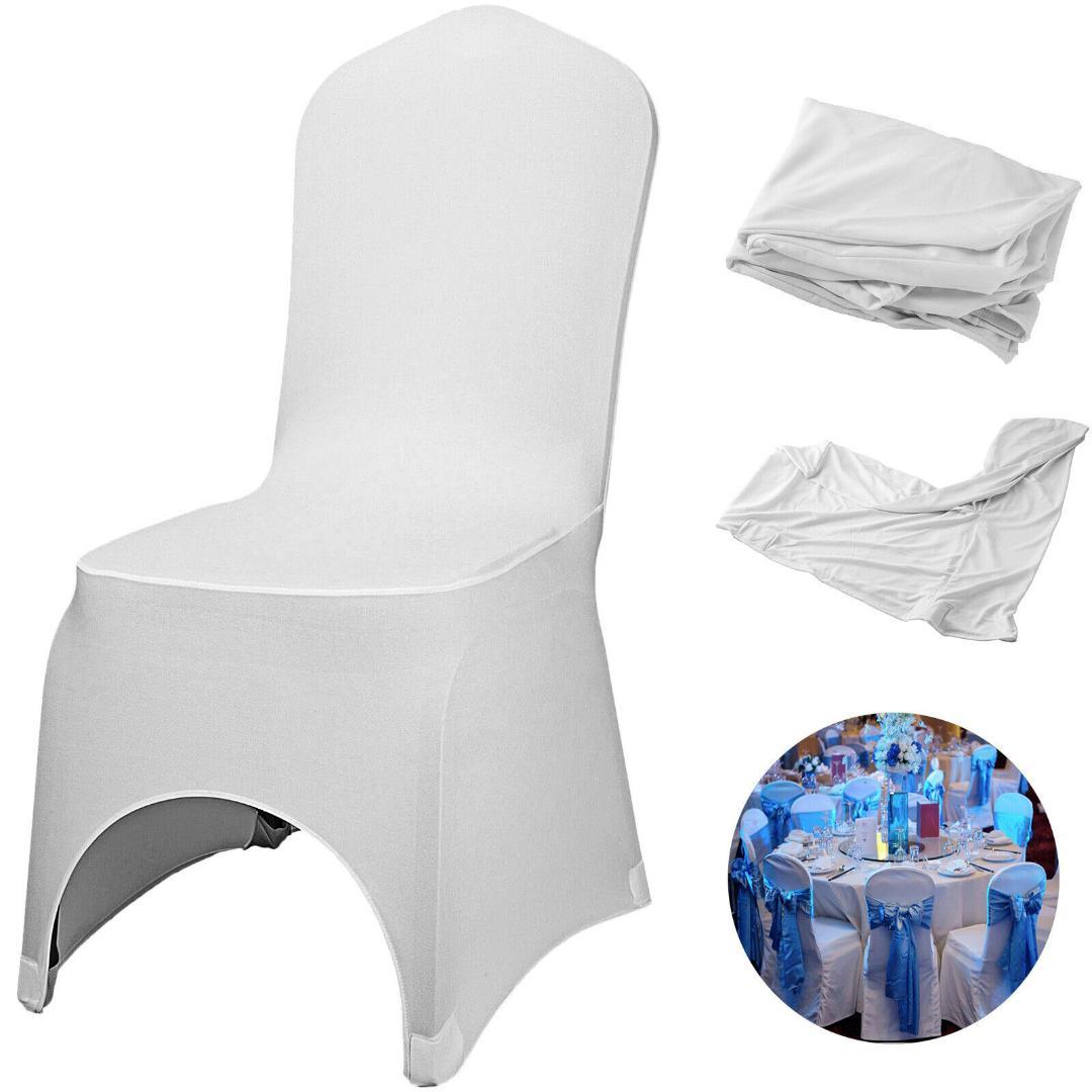 VEVOR Chair branco cobre estiramento poliéster Spandex Slipcovers para Banquete Jantar Detalhes no banquete de casamento