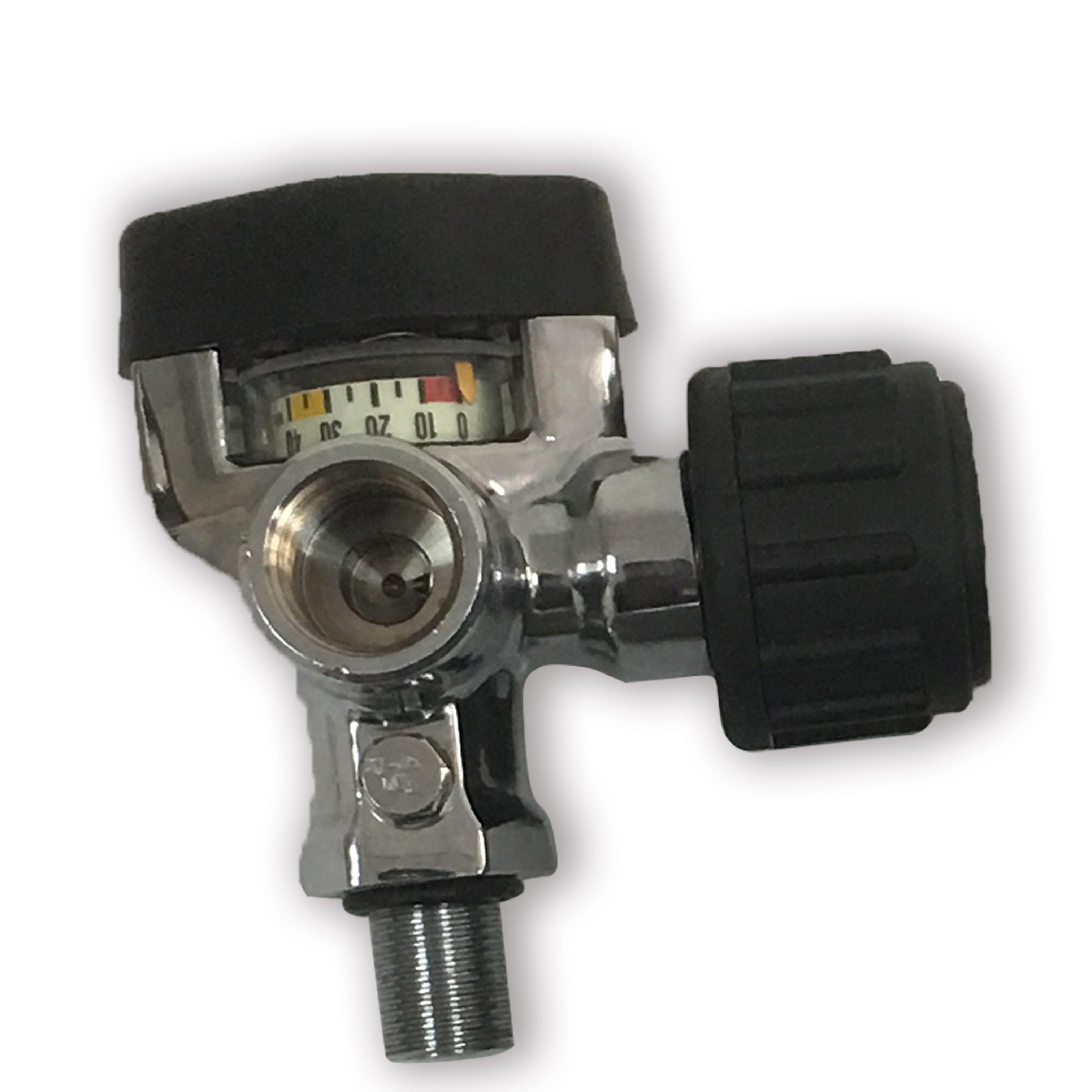 AC921 Acecare 2020 para la válvula caliente de la promoción de 300 bares Pcp Paintball Tanque Negro SCBA cilindro de fibra de carbono con Big Indicador de presión