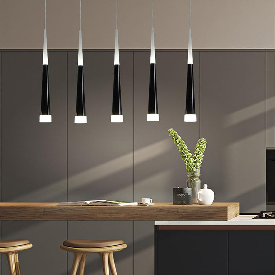 Led Pendant Lamp Dimmable Hanging Lamps Kitchen Island Dining Room Shop Bar Counter Decoration Cylinder Pipe Kitchen Lights Pendant Light Pendants