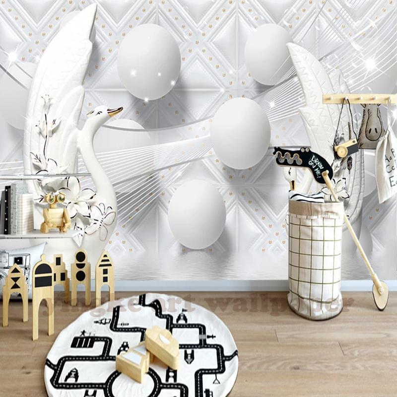 Custom 3d Photo Wallpaper 3D Stereoscopic Luxury Europe Swan Pellet Living  Room TV Background 3D Mural Wallpaper Free Desktop Wallpaper Downloads Free