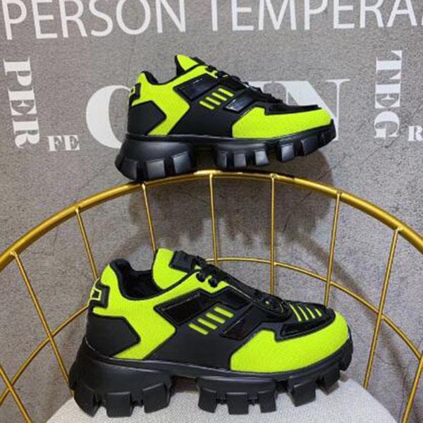 novos sapatos de designer homens e mulheres quentes Cloudbust Trovão grife malha enormes sapatos femininos de borracha leve sapatos único casuais nenhuma caixa U3