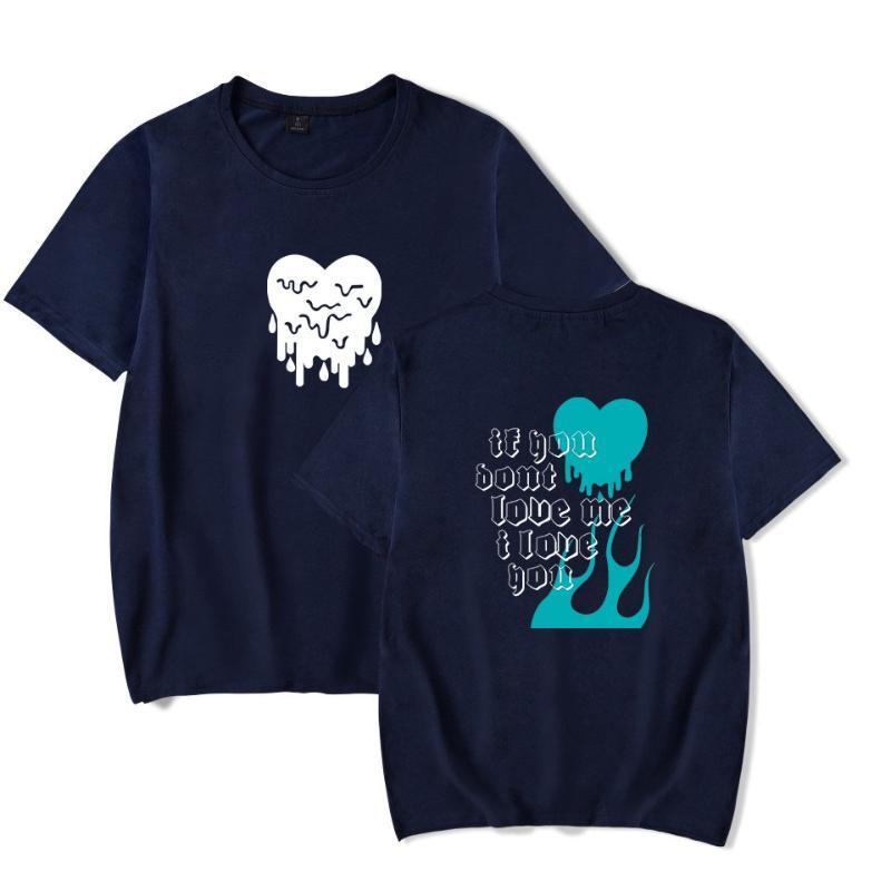 Coppie maglietta AVANI 'Se non amarmi' T-Shirt GreggChase Hudson Tee Estate manica corta unisex cuore di amore di stampa maglietta t08