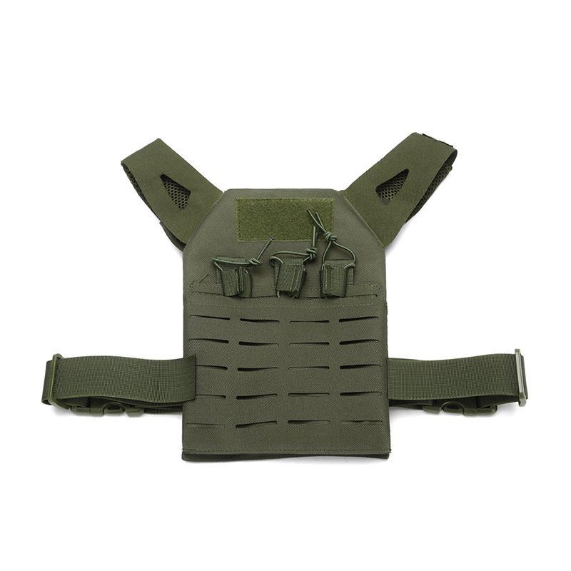 Exército crianças Verde Tactical Vest Combate exterior Caça Protective JPC Vest Lightweight Colete Airsoft Vest