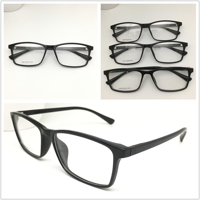 الجملة TR-90 البلاستيك نظارات الإطار أزياء الرجال بصري قصر النظر وصفة طبية الحاسوب النساء السود نظارات ساحة كبيرة نظارات الإطار