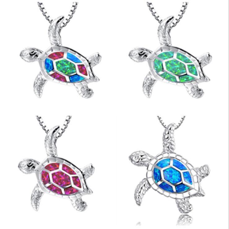 2020 Vendita calda più recente China Factory Vendi direttamente la migliore collana opale in lega di moda di Natale per la collana della tartaruga della donna