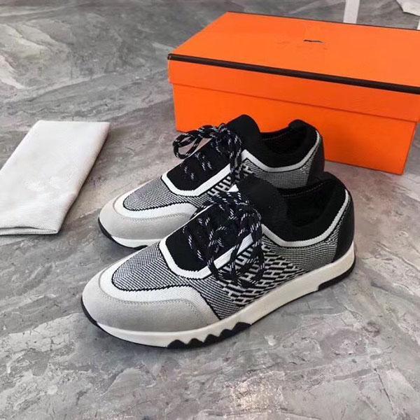 2020 del nuevo diseñador de lujo de la marca H zapatillas de deporte superiores de cuero de vaca hombres de la manera zapatos planos ocasionales cómodos zapatos de los altos RD