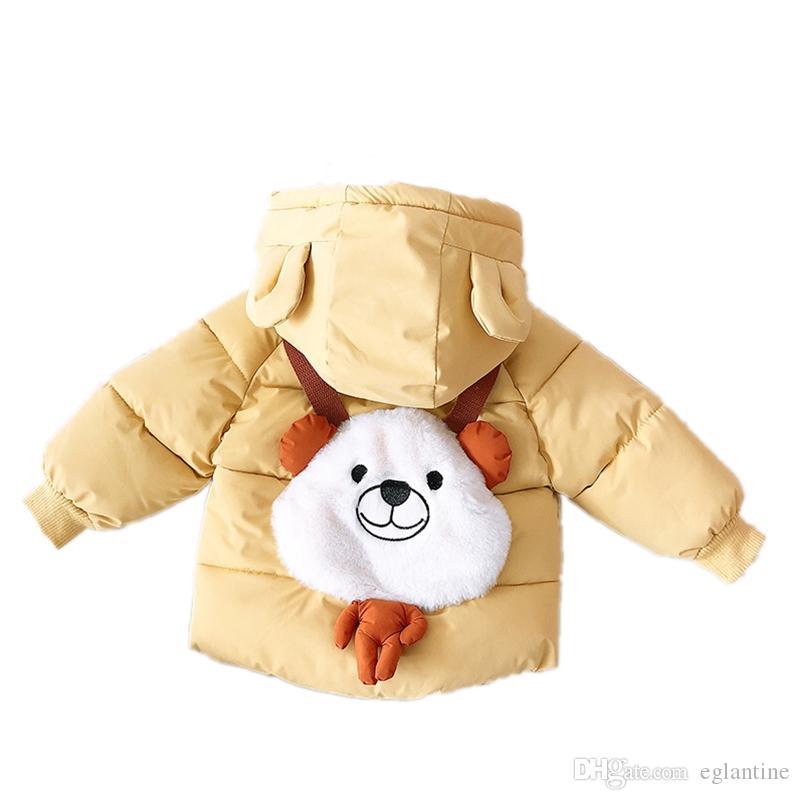 Baby-Winter-Kleidung Cartoon Daunenjacken neugeborenen Jungen mit Kapuze Schnee Wear Kleinkind Kinder verdicken Thermal Cotton-padded Mantel