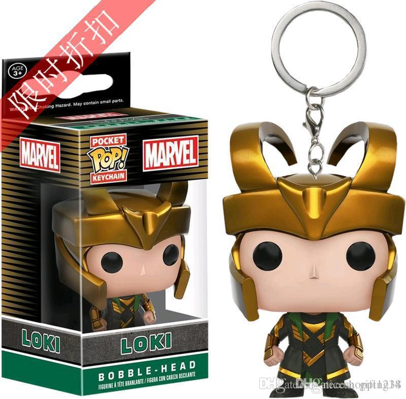 low price New Funko Pocket POP Keychain - Loki The Dark World Vinyl Figure Keyring with Box Toy Gift Good Quality