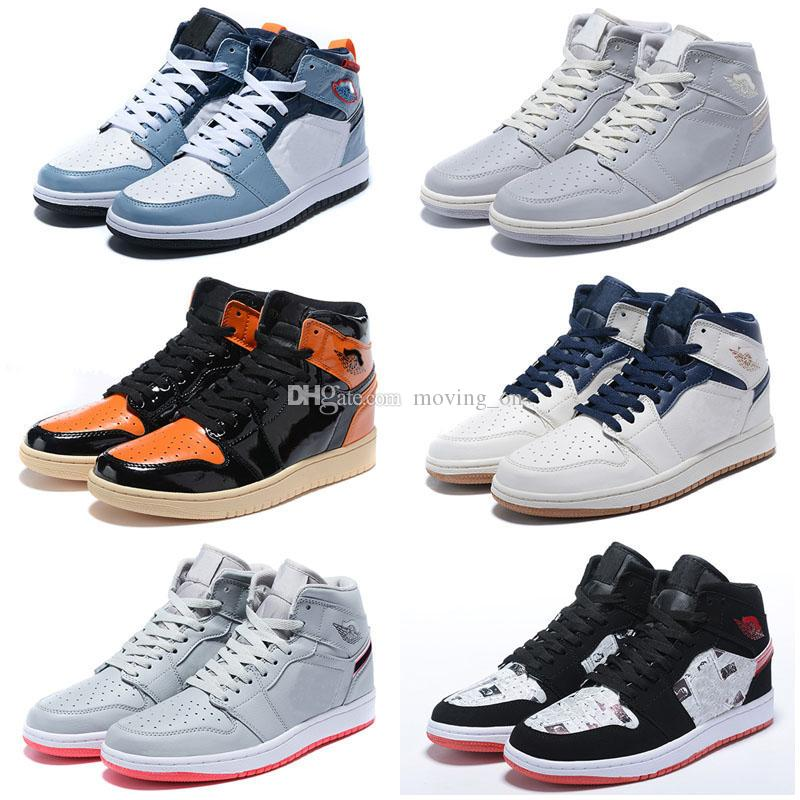 Jumpman 1 alto Travis Scotts Basso Fearless Obsidian Scarpe uomo casual Spiderman UNC 1s Chicago Toe Bred Uomo Nero