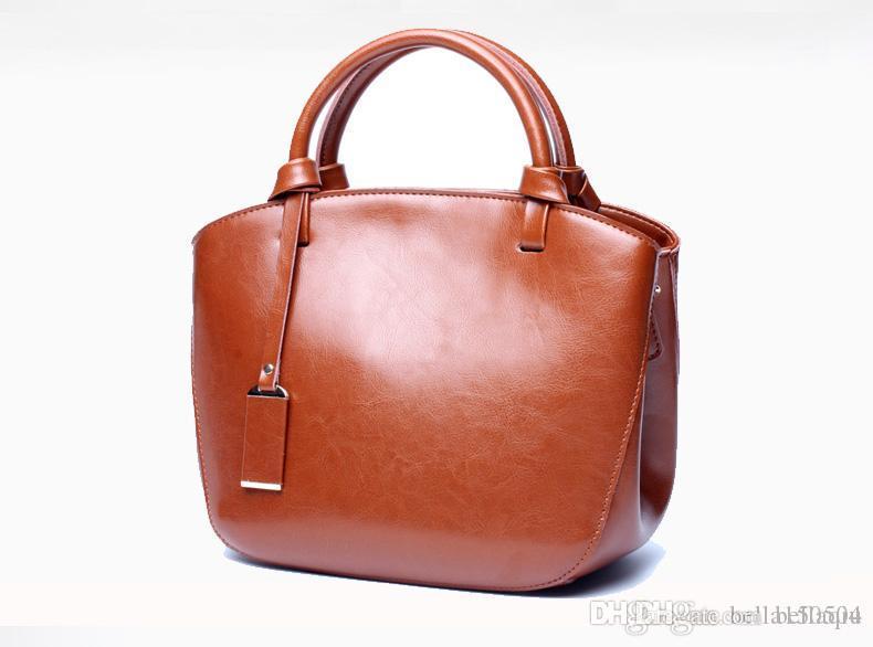 beste Qualität der neuesten Frauen Taschen MICHA KEN Dame echtes Leder-Handtaschen berühmte Designer Markenbeutel Geldbeutel Schulter Tasche weiblich 6821