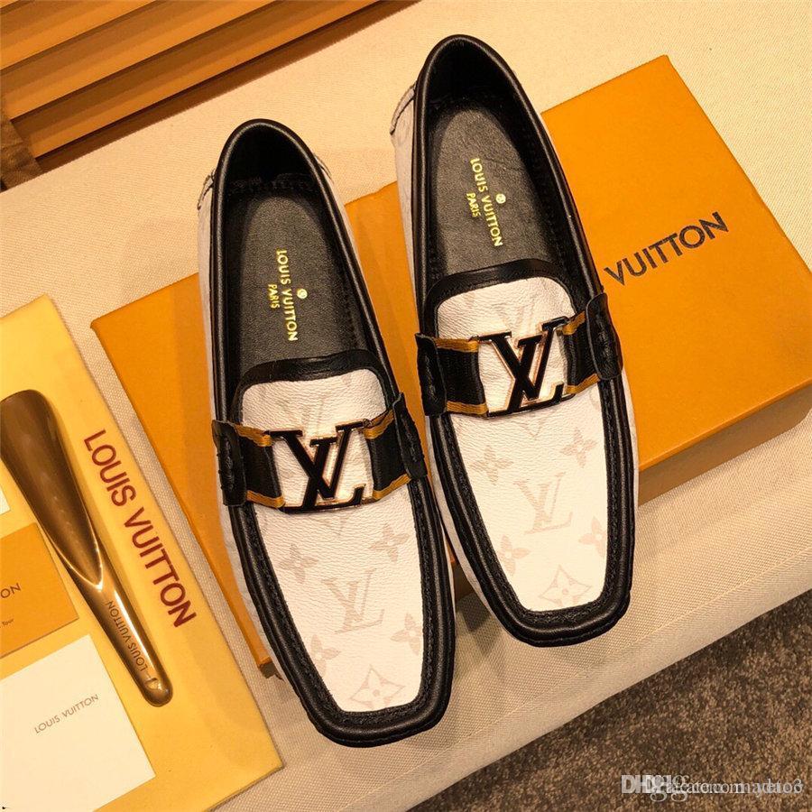 20ss Bling Luxo Couro Calçados Rhinestone Mens Fashion Loafer Dress Shoes Men Casual Shoes Diamante, Ouro, Prata Preto Azul YETC3