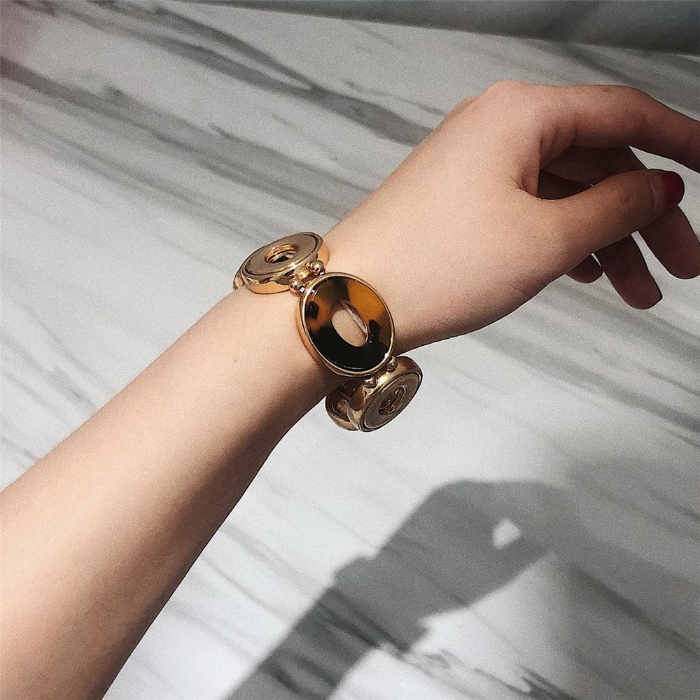 Simple personnalité élastique perle ronde ornement main Exagéré ronde géométrique Femme motif léopard Alternance Bracelets FJ145