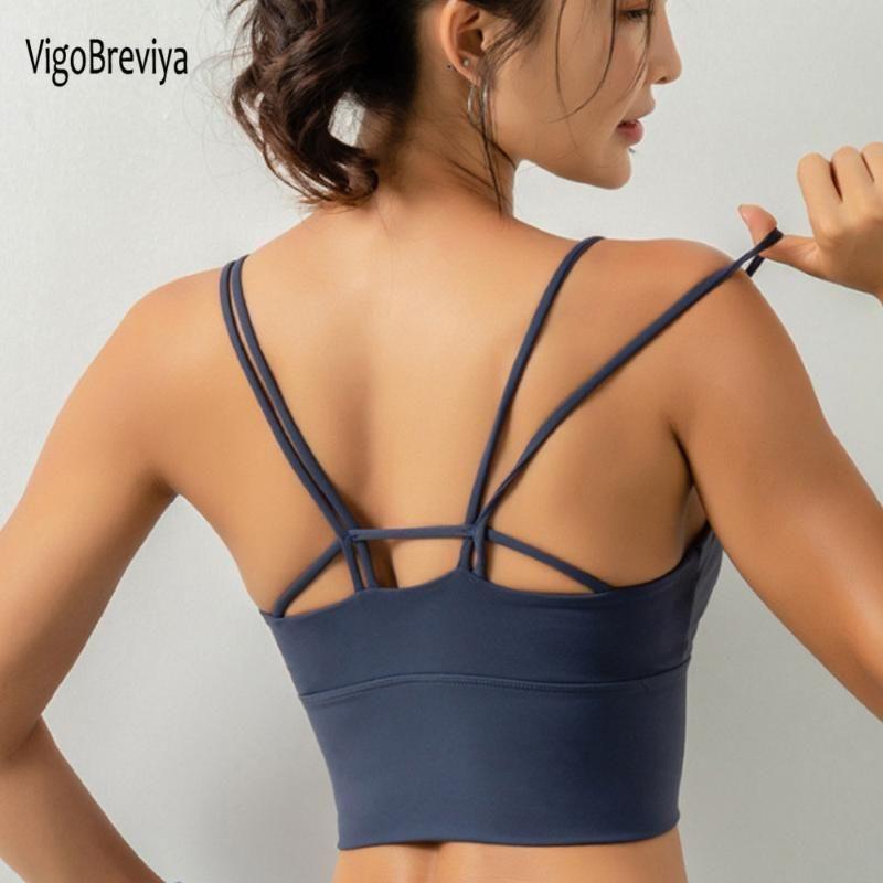 VigoBreviya String Seamless Sports Bra Women Push Up High Impact Fitness Sport Top Wear For Yoga Gym Workout Vest Sportswear