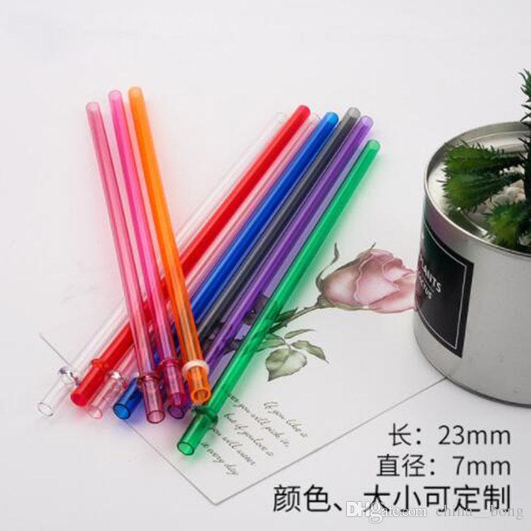 القش المتاح 230 * 7 ملليمتر الإبداعية diy البلاستيك حزب الشرب القش 9 بوصة قابلة لإعادة الاستخدام ل تل نحيل البهلوانات يمكن تخصيصها