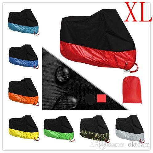 XL Motorrad Abdeckung Universal Outdoor UV-Schutz SCOOTER All Seasons wasserdichte Fahrrad-Regen-Abdeckung Staubdichtes 190T