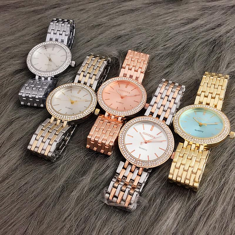 Rhinestone Women Watches Fashion Gold Women's Watch Reloj hembra Zegarek Damski Reloj Mujer